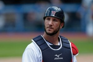 CLEVELAND, OH - JUNE 19: Yan Gomes #10 of the Cleveland Indians walks off of the field during the game against the Chicago White Sox at Progressive Field on June 19, 2016 in Cleveland, Ohio. (Photo by Kirk Irwin/Getty Images)