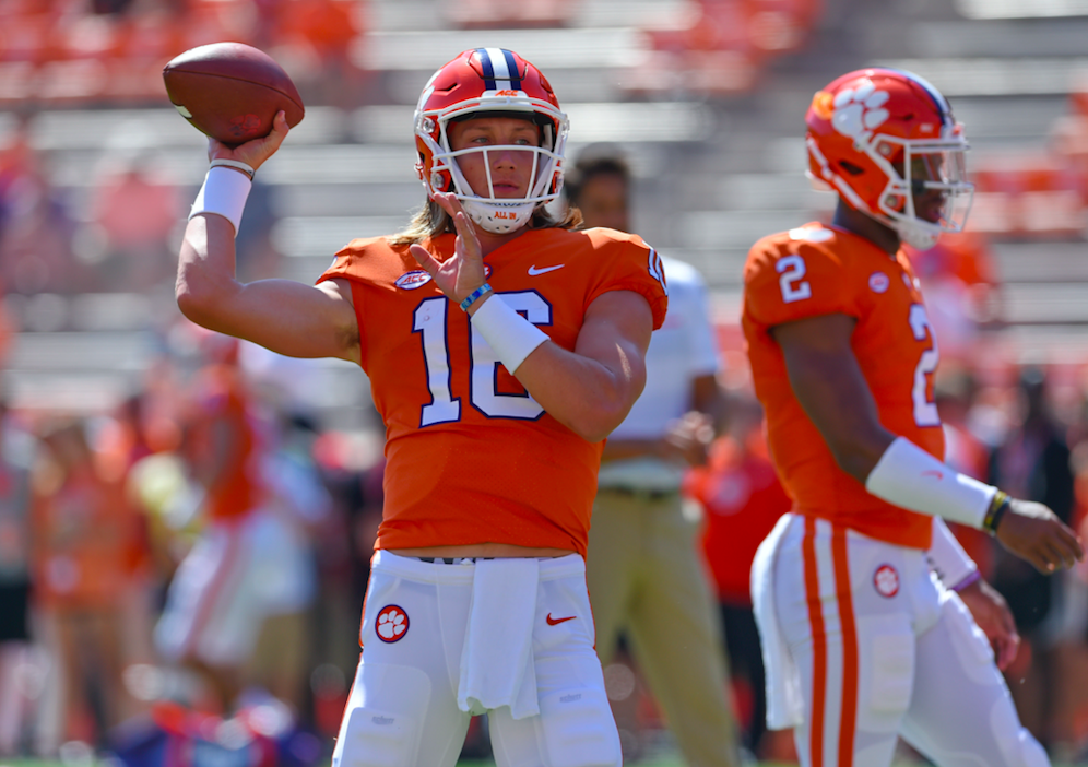 QB his Lawrence Clemson Trevor  identity starting New says