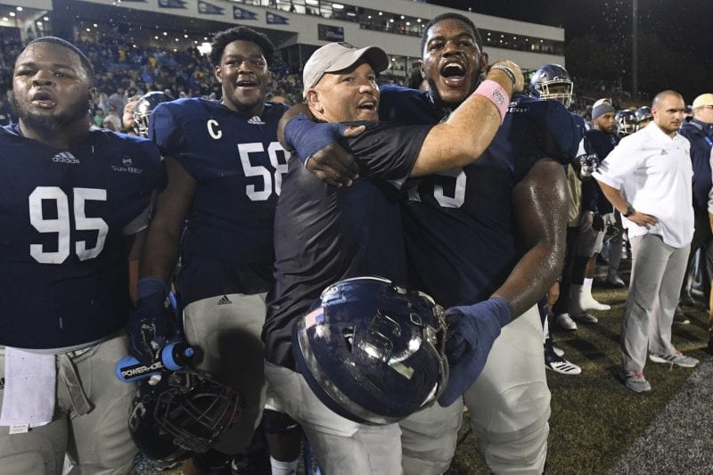 Georgia Southern coach Chad Lunsford guided by faith in leading team to 7-1  record 92769f3de