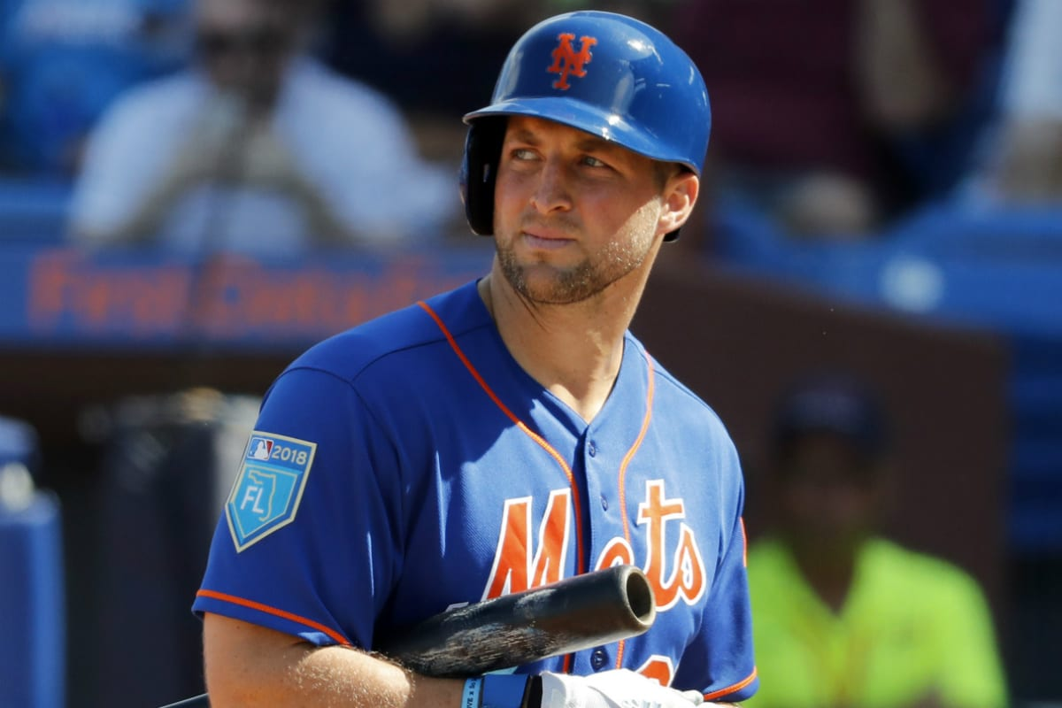 size 40 c1c96 e17bf Tim Tebow earns promotion to start 2019 baseball season in ...