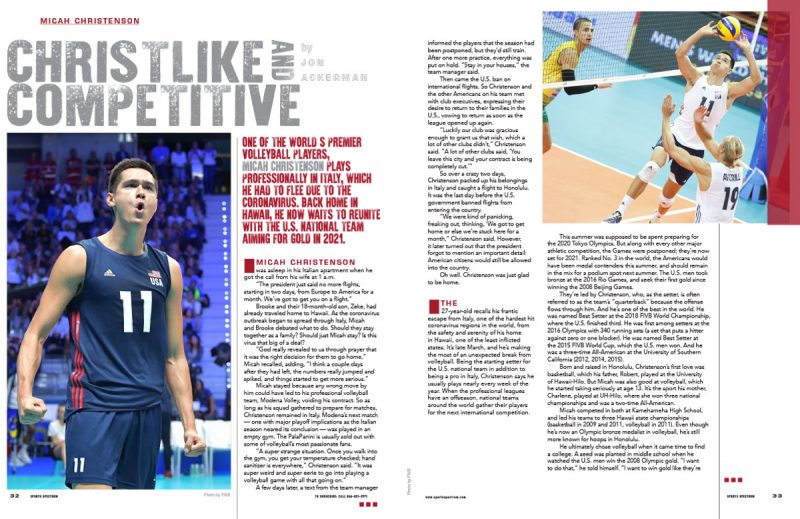 MAGAZINE: Volleyball star Micah Christenson is Christlike & Competitive