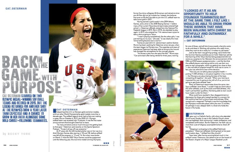 Cat Osterman magazine
