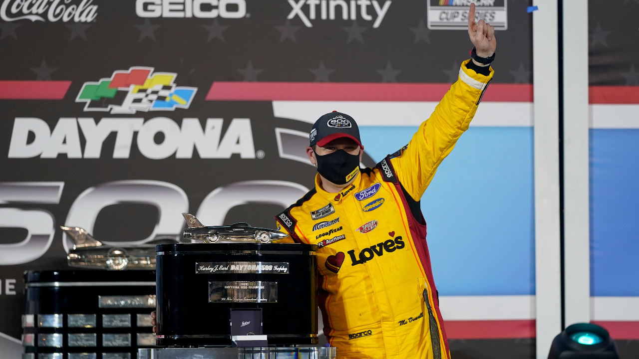 Michael McDowell Says 'I've Just Got to Thank God' After Winning Daytona 500